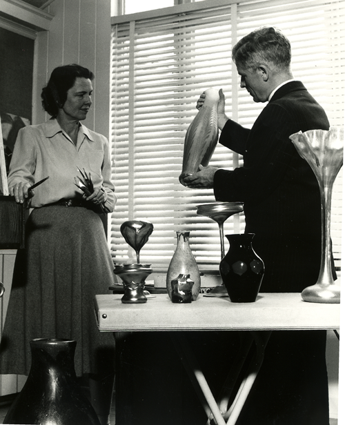1955 - Tiffany gallery exhibit.