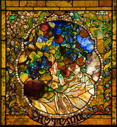Autumn panel from the Four Seasons window