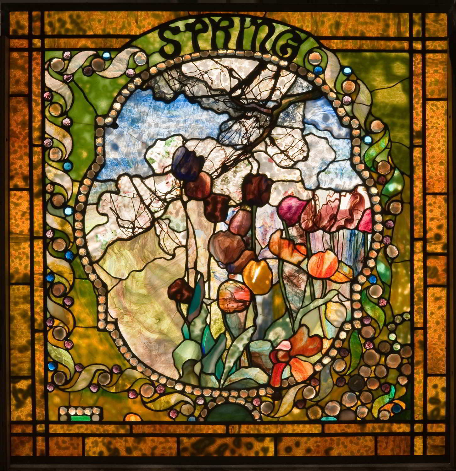 Spring panel from the Four Seasons window