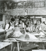 Workers in the Tiffany Lamp Department