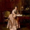 Lady at Writing Desk