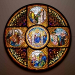 The Story of the Cross window