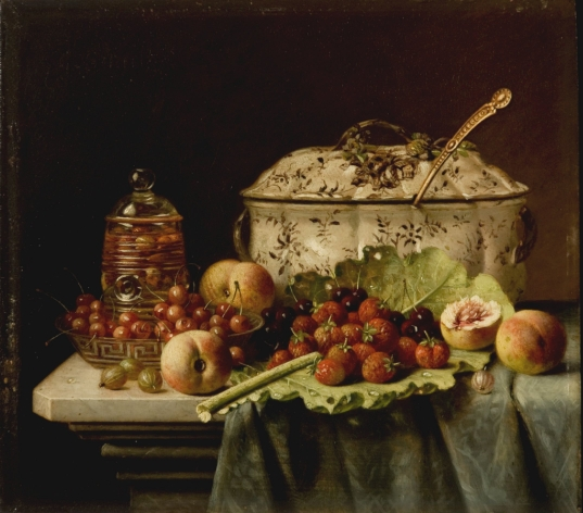 Still Life, Fruit and Dishes