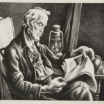 <em>Old Man Reading</em>