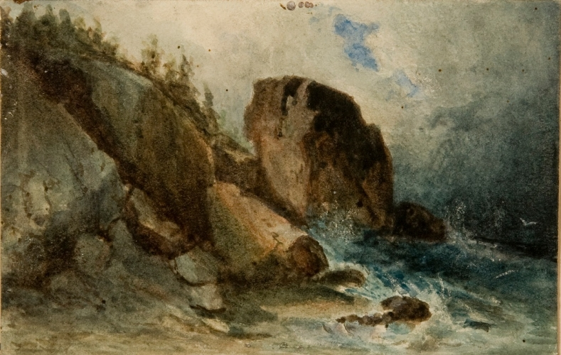 Seashore with Large Boulders