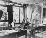 Tiffany Studios workshop